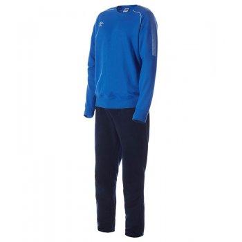 350215 791 PRODIGY TEAM COTTON SUIT костюм трен. ХБ (791) син/т.син/бел